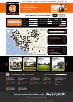 85 immobilier website